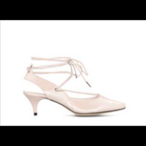 Shoe Dazzle Shoes - Nude Pointy Toe Kitten Heels